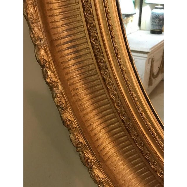19th Century Oval Gilt Wood Mirrors - a Pair For Sale In New York - Image 6 of 10