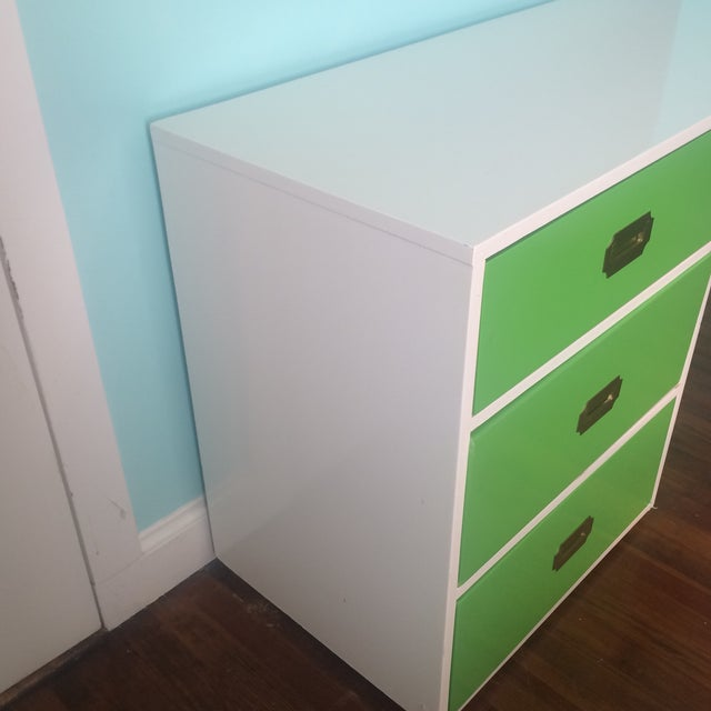 Lacquered Vintage Campaign Desk - Image 4 of 6