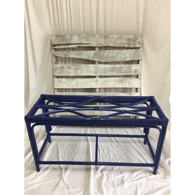 Royal Blue Tani Wood Console Table - Image 2 of 11