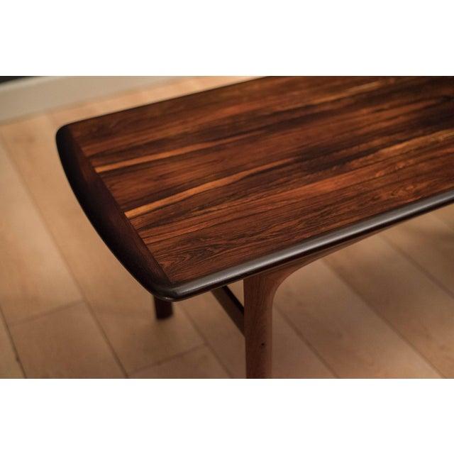 Wood Scandinavian Modern Westnofa Rosewood Coffee Table For Sale - Image 7 of 11