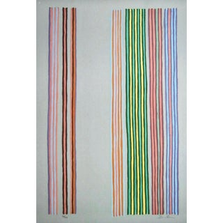 Gene Davis Royal Curtain 1980 For Sale