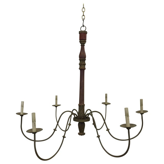 Antique French Post Chandelier - Image 5 of 5
