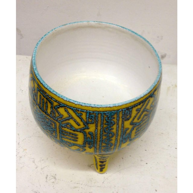 Inspired Precolombian Tripod Bowl: Made in Italy - Image 6 of 10