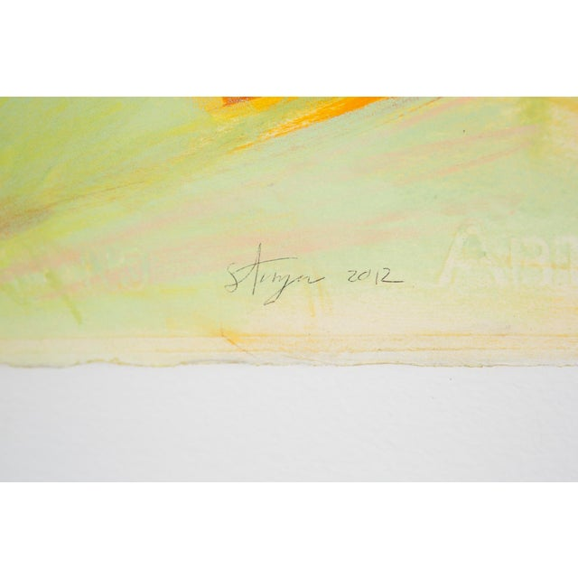 """Drawing/Sketching Materials Ted Stanuga, """"Brush Fire"""" For Sale - Image 7 of 7"""