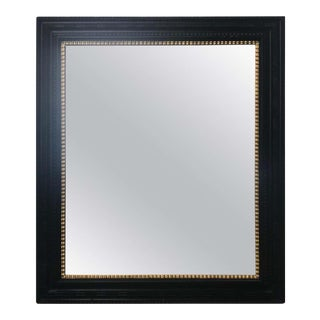Flemish Ebonized Ripple Frame Mirror With Gilded Liner For Sale