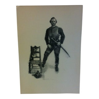 "Vintage Miles Standish Print ""The Sword"" by Howard Christy 1903 For Sale"