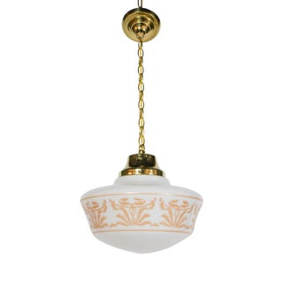Elegant Restored Stencil Glass Pendants For Sale
