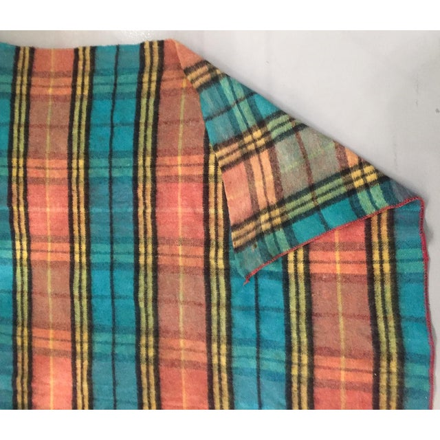 Mid-Century Plaid Whip Stitched Camp Blanket - Image 4 of 6