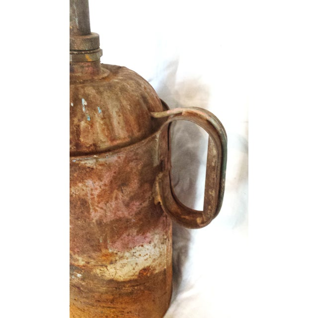 Antique Railroad Oil Can Industrial Rust Decor - Image 9 of 11