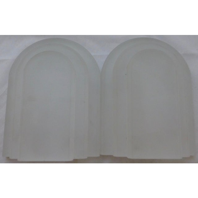 Vintage Frosted Lucite Bookends - A Pair For Sale In Boston - Image 6 of 8