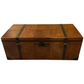 Rectangular Leather Manchester Trunk