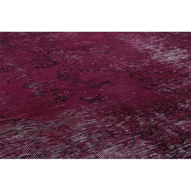 """Modern Industrial Style Distressed Over-Dyed Persian Tabriz Rug - 9'3"""" x 12'1"""" For Sale - Image 11 of 13"""