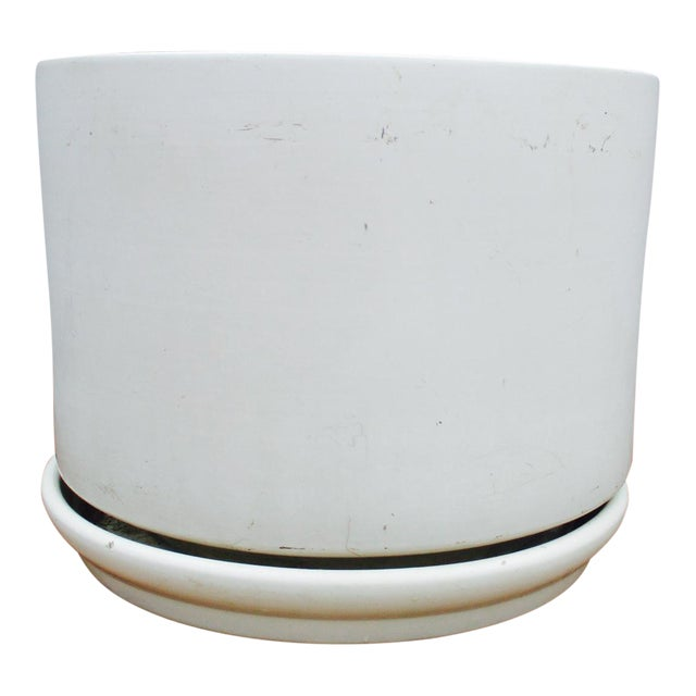 Mid-Century Off-White Ceramic Planter Gainey Style Architectural Pottery - Image 1 of 11