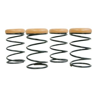Coil Spring Bar Stools - Set of 4 For Sale
