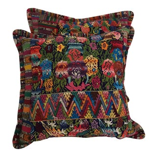 Hand Woven Guatemalan Pillow Cases - A Pair