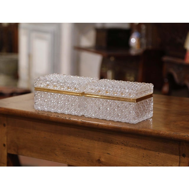 Keep your jewelry or other valuables in these delicate baccarat style antique boxes; crafted in France circa 1920, each...