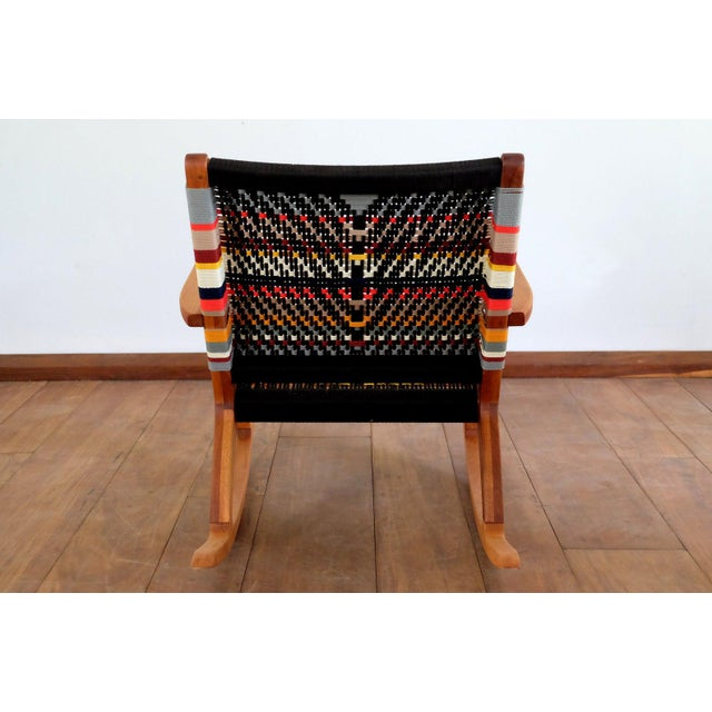 Metal Mid Century Modern Rocking Chair For Sale - Image 7 of 8