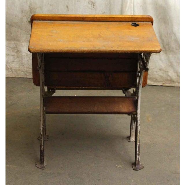 Vintage Folding School Row Desk For Sale - Image 6 of 6