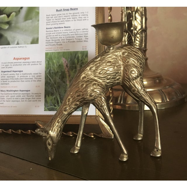 Brass Doe Candle Holder - Image 3 of 5
