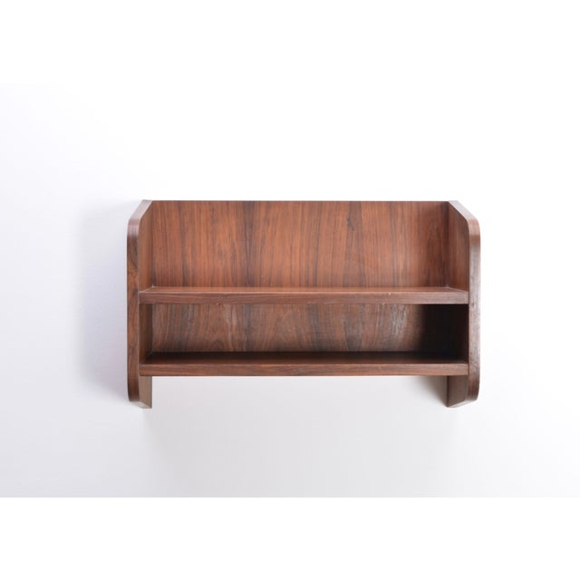 Brown Small Danish Rosewood Wall Shelf, 1960s For Sale - Image 8 of 10