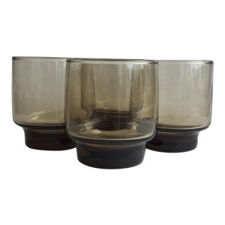 Old-Fashioned Tawny Accent Glasses - Set of 4