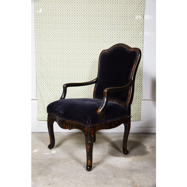 Louis XV Style Chinoiserie Fauteuil by Sally Sirkin Lewis for J Robert Scott For Sale - Image 12 of 12