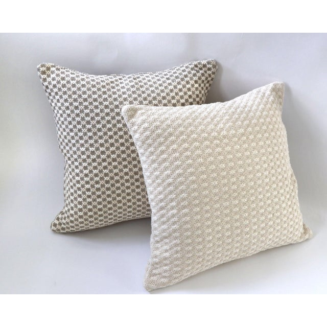Traditional Tweed Bobble Heavy Woven Pillow Cover For Sale - Image 3 of 4
