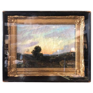 """Glowing Sunset"" Near the White Water Painting by White J. F. Earhart For Sale"