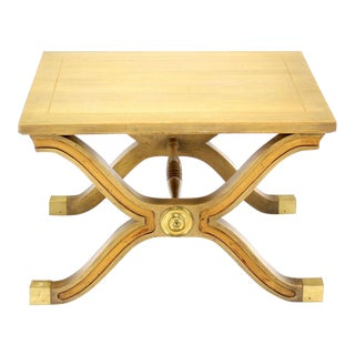 20th Century Hollywood Regency X-Base Side Table or Stool For Sale