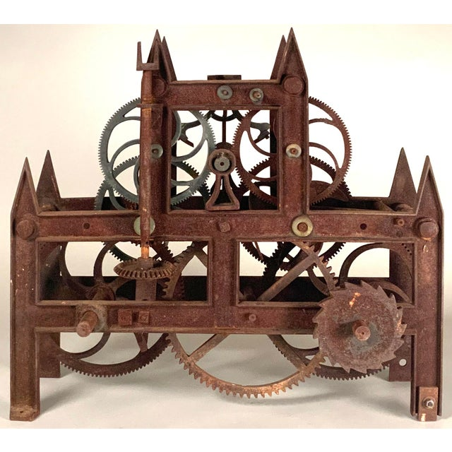 19th Century Large Iron Clockworks For Sale - Image 10 of 10