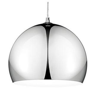 Polished Chrome Pendant Light For Sale