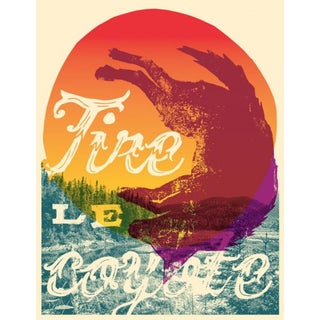 2016 Contemporary Music Poster - Tire Le Coyote For Sale