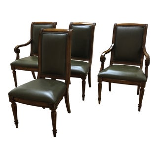 Ethan Allen Leather Adison Chairs - Set of 4 For Sale