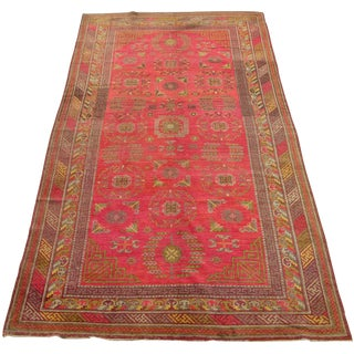 Antique Khotan Samarkand Runner -12'1'' X 6'7'' For Sale