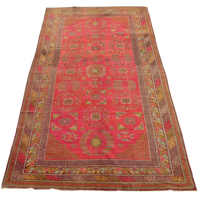 Antique Khotan Samarkand Runner -12'1'' X 6'7'' For Sale