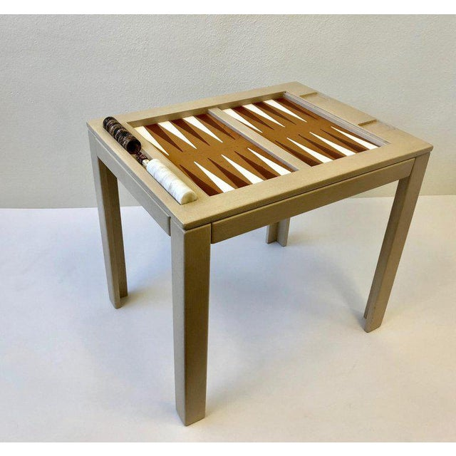 Lacquered Backgammon Table by Steve Chase For Sale - Image 10 of 11