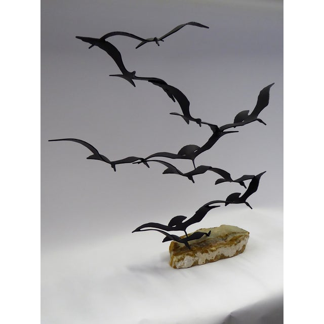 "Bijan ""Flock of Seagulls"" Kinetic Metal Sculpture For Sale - Image 11 of 12"
