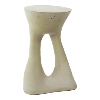 Souda Kreten Grey Concrete Side Table For Sale