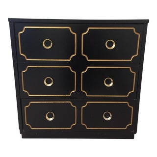 1960s Vintage Dorothy Draper Style Regency Chest of Drawers For Sale