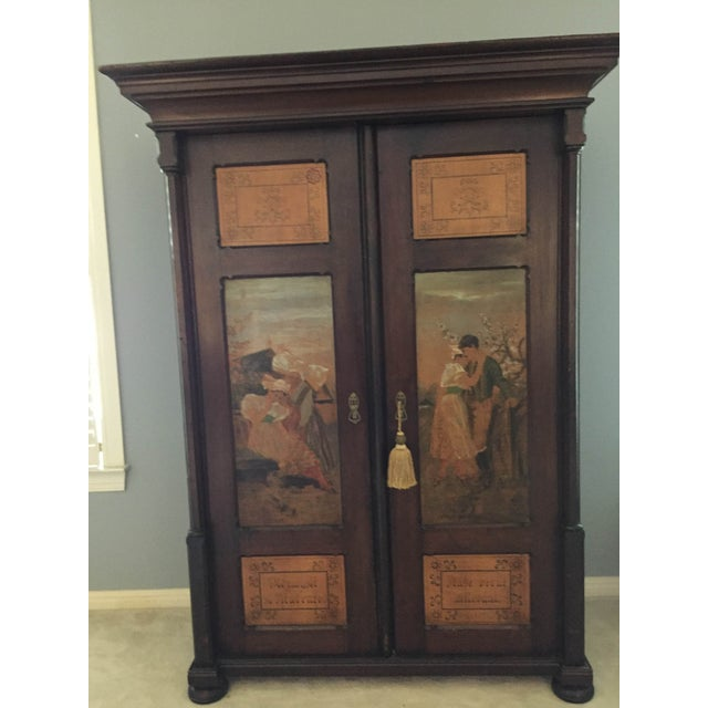 Hand Painted Czech Armoire - Image 2 of 5