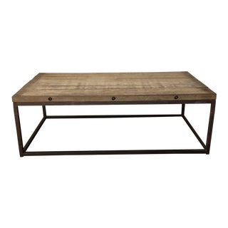 20th Century Rustic Brickmakers Coffee Table For Sale