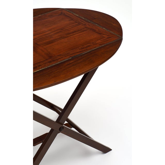 English Campaign Style Mahogany Tray Table For Sale - Image 4 of 10