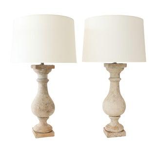 Two Custom Terracotta Lamps For Sale