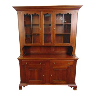 Pennsylvania House Cherry Dutch Cupboard Style China Cabinet For Sale