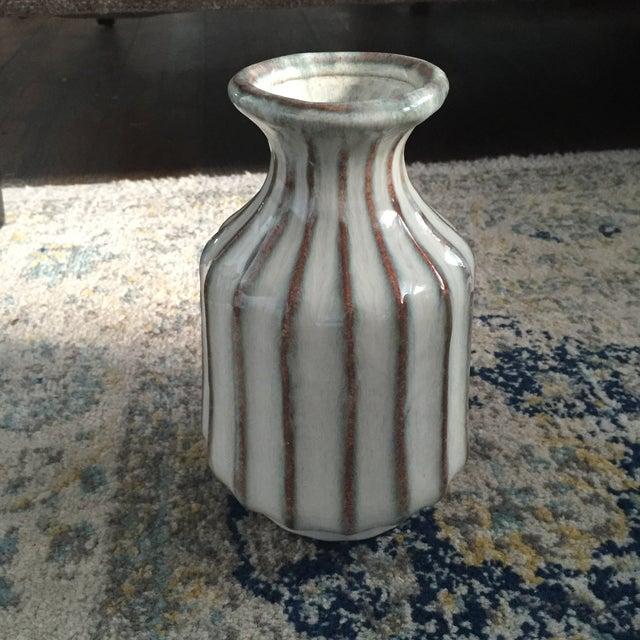 Mid-Century Modern Glazed Pottery Vase - Image 7 of 11