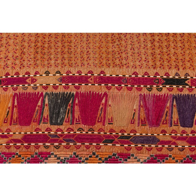 Afghani Pashtun Textile Pillow For Sale - Image 4 of 5