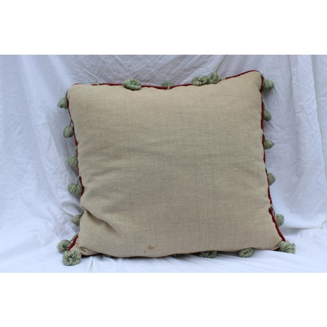 English Traditional Floral Down Pillow For Sale - Image 4 of 10