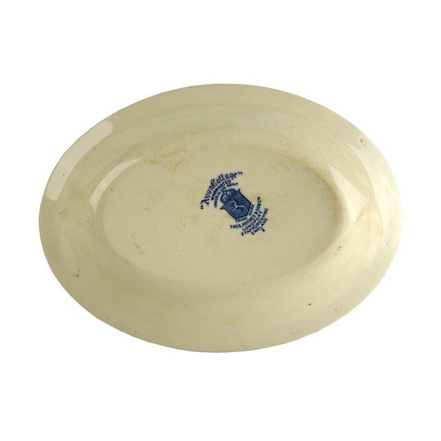 Vintage Indigo Blue Toile Serving Bowl - Image 5 of 6