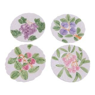 Madcap Cottage Fruit-Embossed Ceramic Plates, S/4 For Sale