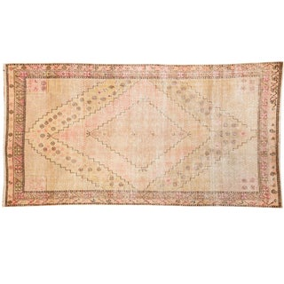 "Vintage Distressed Khotan Rug - 4'7"" x 8'9"" For Sale"